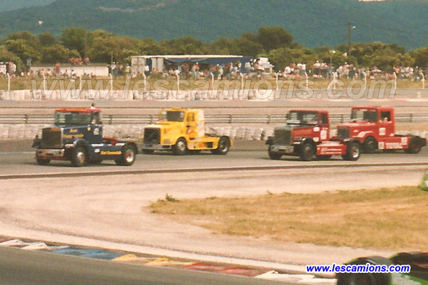 James Mc Alpine, Pascal Robineau, Dick Pountain et Nicolas Crozier - Le Castellet 1993